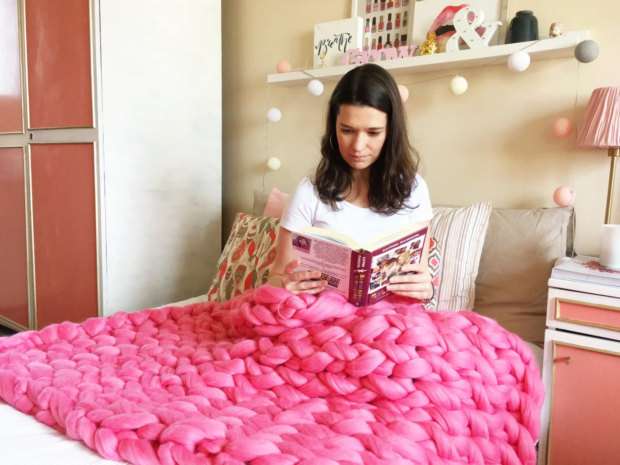 Плед крупной вязки своими руками | Блог Варвары Лялягиной «Дом, в который хочется приходить»