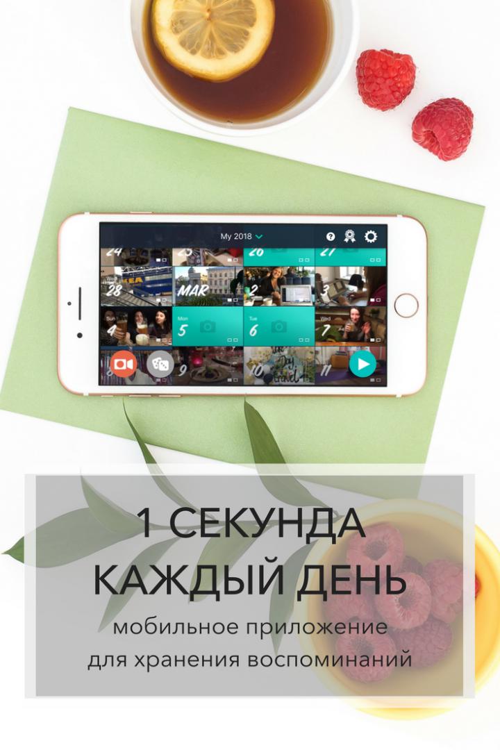 1 секунда каждый день. Мобильное приложение для хранения воспоминаний   Блог Варвары Лялягиной «Дом, в который хочется приходить»