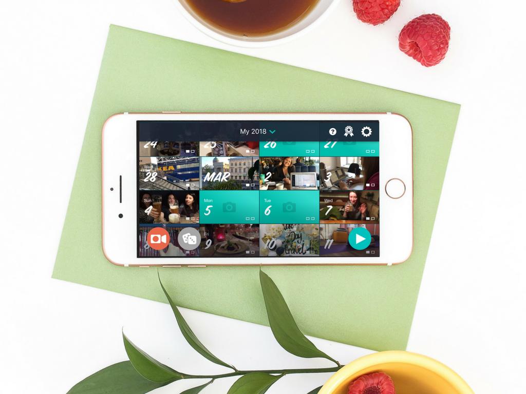 1 секунда каждый день. Мобильное приложение для хранения воспоминаний