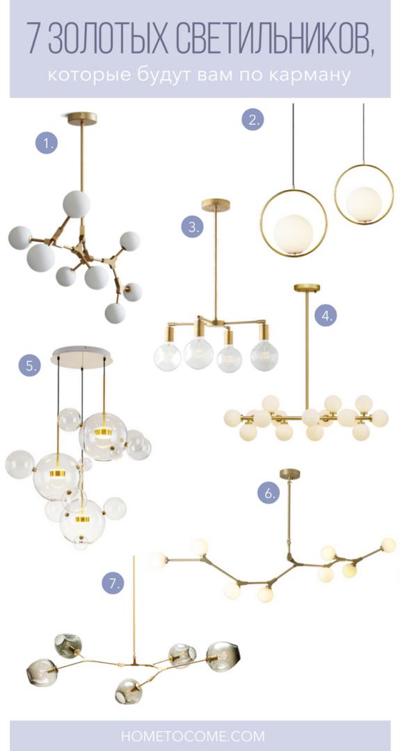 7 золотых светильников, которые будут вам по карману | Блог Варвары Лялягиной «Дом, в который хочется приходить»