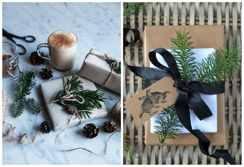 Простые идеи для упаковки новогодних подарков. Крафтовая бумага | Блог Дом, в который хочется приходить