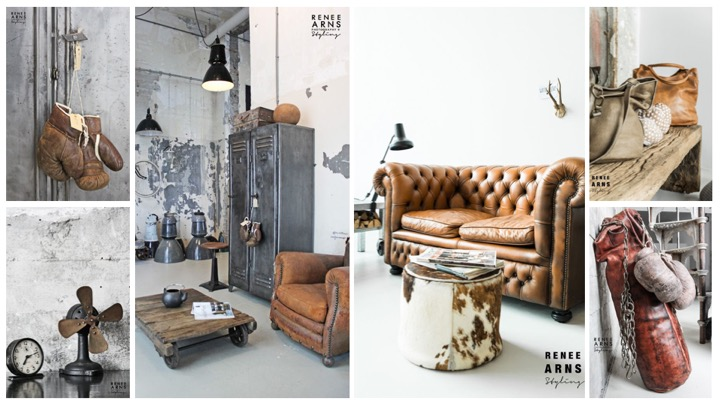 Hometocome-leather-and-metal-interior-moodboard