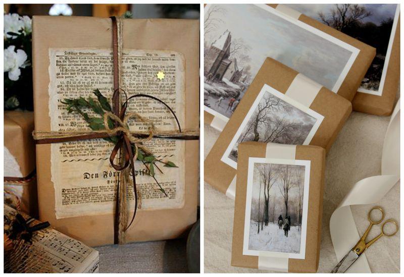 Простые идеи для упаковки новогодних подарков. Открытки | Блог Дом, в который хочется приходить