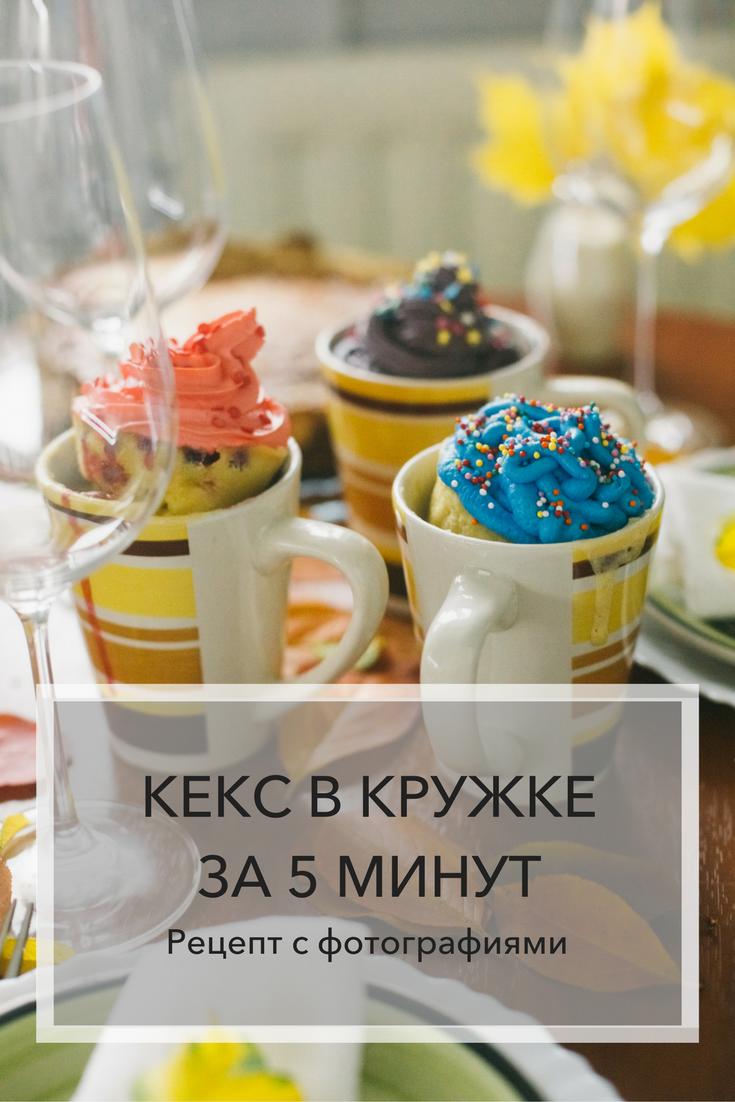Кекс в кружке за 5 минут. Рецепт с фотографиями | Блог Варвары Лялягиной «Дом, в который хочется приходить»