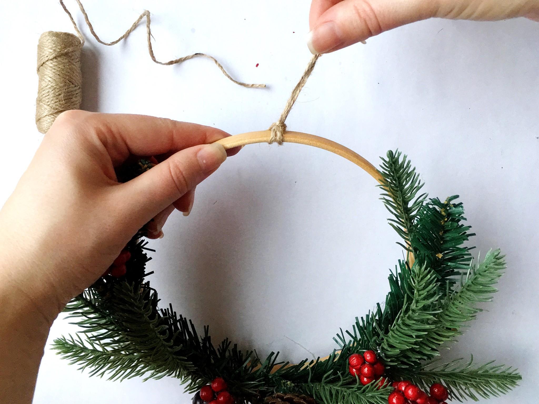 Простой рождественский венок своими руками | Блог Варвары Лялягиной «Дом, в который хочется приходить»