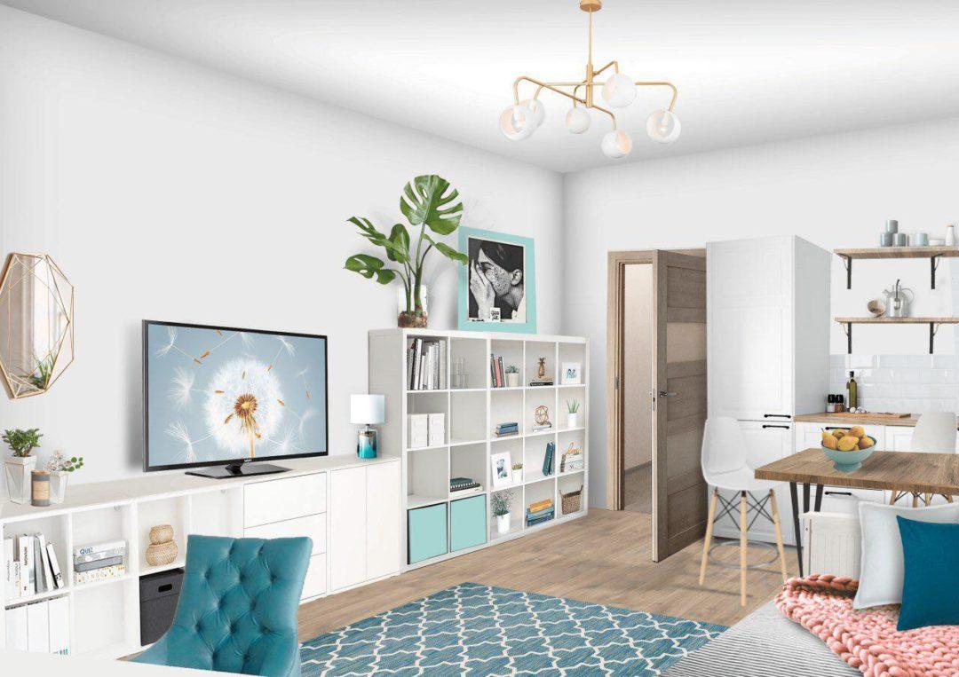 Дизайн квартиры-студии. Как уместить всё на 23 квадратных метрах