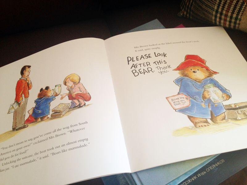 Книжка про Паддингтона открытая