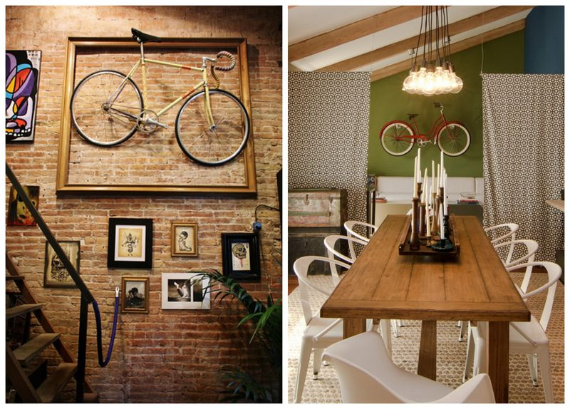 велосипед в интерьере (2)