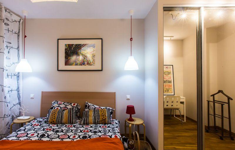 Дом, в который хочется приходить. Небольшая спальня. Дизайнер Алексей Черкасов