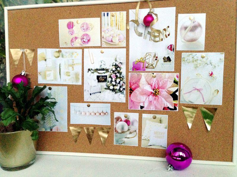 Moodboard Праздничное настроение. Розовый и золотой новогодний декор | Блог Дом, в который хочется приходить